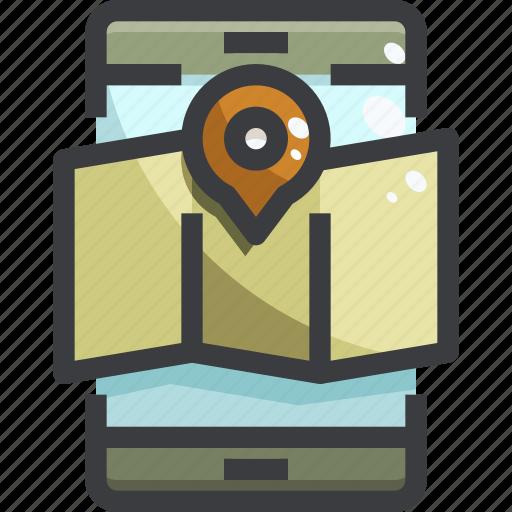 Map, navigation, planning, smartphone icon - Download on Iconfinder