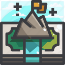 camping, equipment, money, trip icon