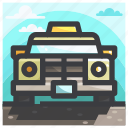 camping, car, equipment, taxi icon