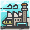 airplane, airport, travel icon