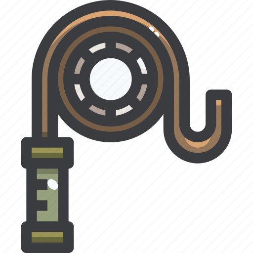 camping, equipment, rope icon