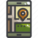 gps, map, navigation, smartphone icon