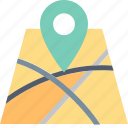 direction, gps, location, map, navigation, orienteering, pin icon