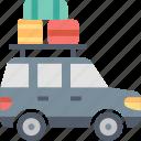 baggage, car, journey, road, transportation, travel, trip icon