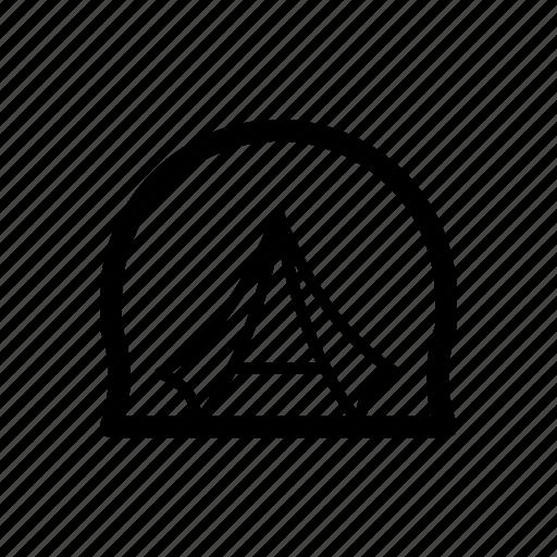 bonfire, camera, camp, compass, gps icon