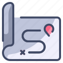 location, map, navigation, path, route
