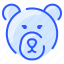 animal, bear, forest, head, nature