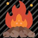fire, outdoor, bonfire, burn, flame, camping, campfire