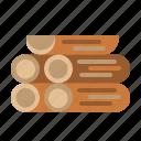 firewood, wood, log, forest, trunks