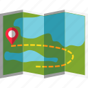 camping, location, map, travel icon