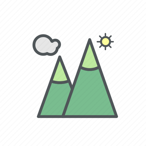 camp, camping, filled, mountain, nature icon