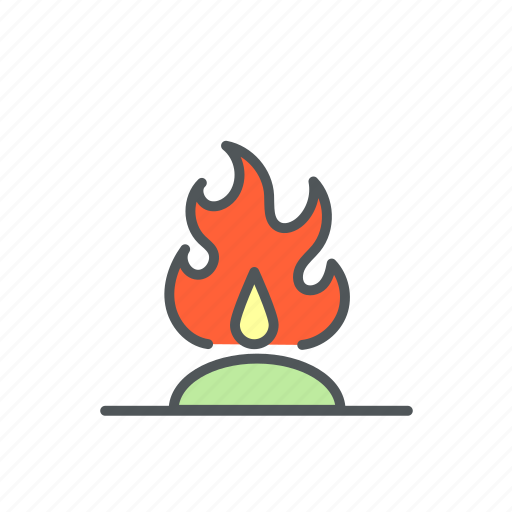 bonfire, campfire, camping, filled, fire icon