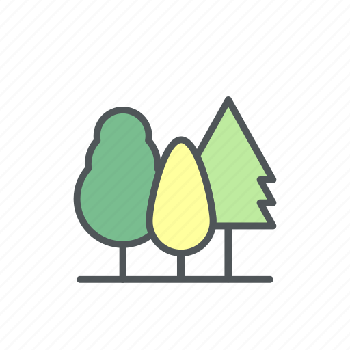 camp, camping, filled, forest, tree icon
