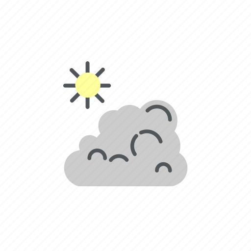 camp, camping, cloud, sun, sunny, weather icon