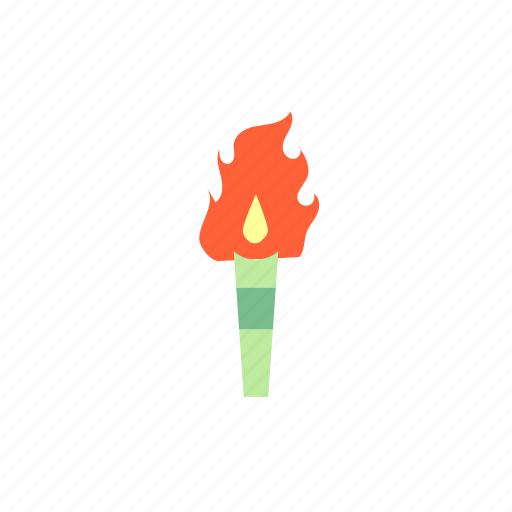 camp, camping, fire, survival, torch icon