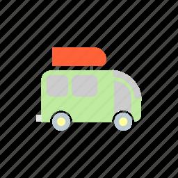 camp, camping, minivan, transport, van icon