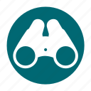 binoculars, camping, glasses, scout, telescope, tool icon