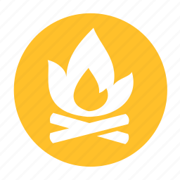 camp, campfire, camping, fire, forest, hunting icon