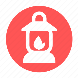 camping, fire, lamp, light, lighter, vintage icon