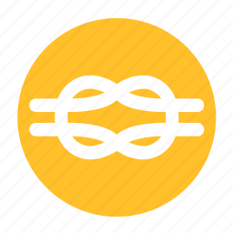 camping, cord, line, loop, rope, string icon