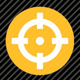 camping, focus, hunter, shoot, shooter, shooting, target icon