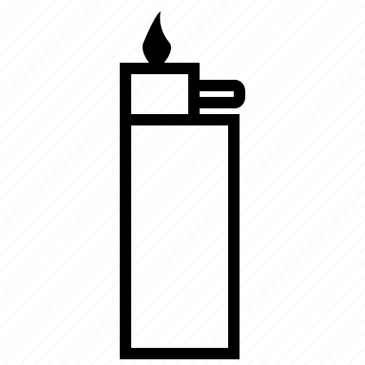 camping, gas lighter, match, outline icon