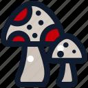 food, fungi, fungus, mushroom icon