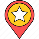 gps, locate us, location, map, navigation, star icon
