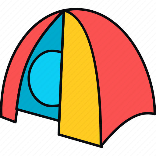 camping, outdoor, outdoors, picnic, tent, tenting icon