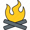 bonefire, bonfire, camp, campfire, camping, fire, outdoor icon