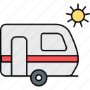 transport, travel, vacation, van, vanity, vehicle icon