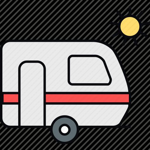 transport, travel, vacation, van, vanity, vehicle icon