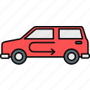 auto, automobile, car, jeep, road, service, travel icon