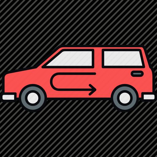auto, automobile, car, jeep, road, service, travel icon