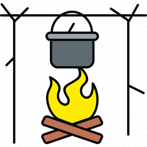 bonefire, bonfire, camp, campfire, camping, outdoor icon