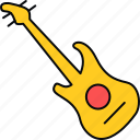guitar, instrument, media, multimedia, music, musical, sound icon