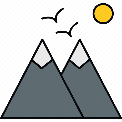 hill, landscape, mountain, mountains, nature, scenery, sparrow icon