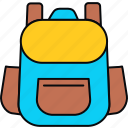 backpack, baggage, holiday, luggage, suitcase, trip, vacation icon