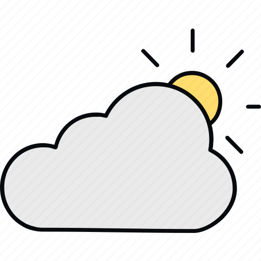 cloud, day, forecast, sun, sunny, sunny day, weather icon