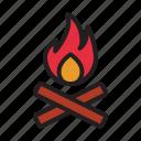 bonfire, camp, camping, fire, outdoors