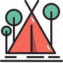 camping, forest, tent, outdoor, park, tree