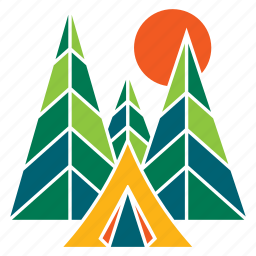 camp, forest, nature, recreation, tent, tourism, travel icon