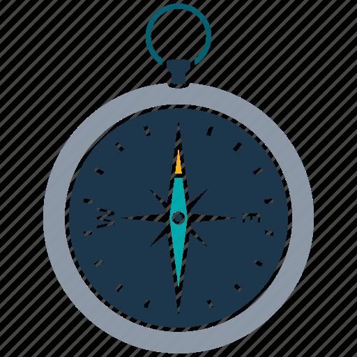compass, direction, equipment, location, navigation, tourism, travel icon