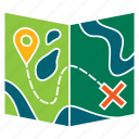 adventure, direction, location, map, navigation, tourism, travel icon