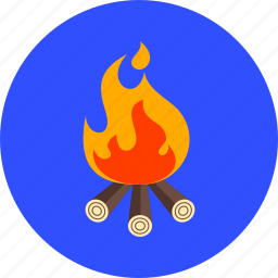 bonfire, burn, camp, campfire, camping, danger, fire icon