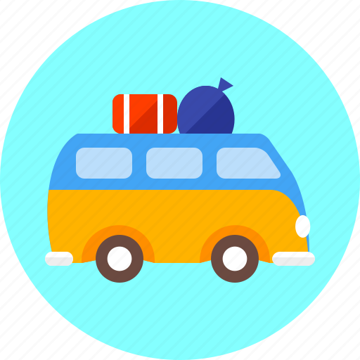 bus, camping, holiday, transport, travel, trip, vehicle icon