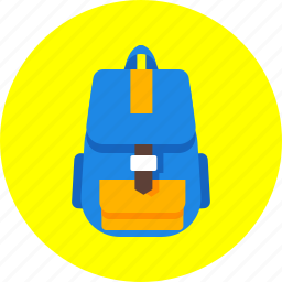 backpack, haversack, knapsack, luggage, rucksack, suitcase, trip icon
