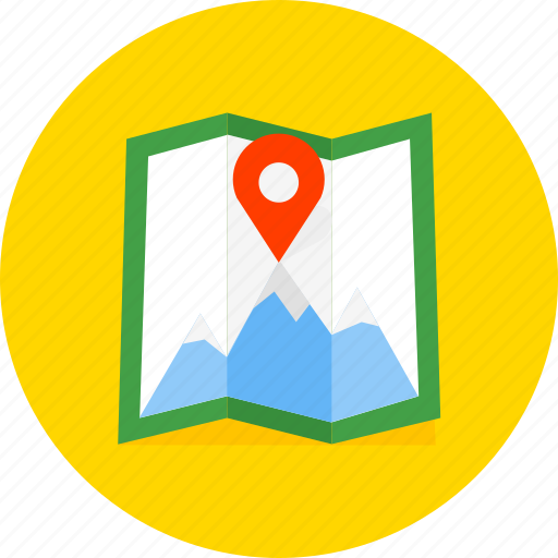 direction, gps, location, map, navigation, pointer, printer icon