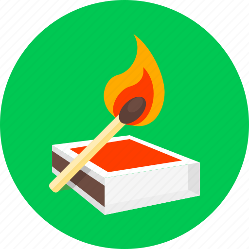 camp, camping, campingfire, fire, match, matches, spunk icon