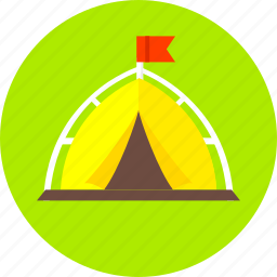 adventure, camping, outdoors, tent, travel, vacation icon
